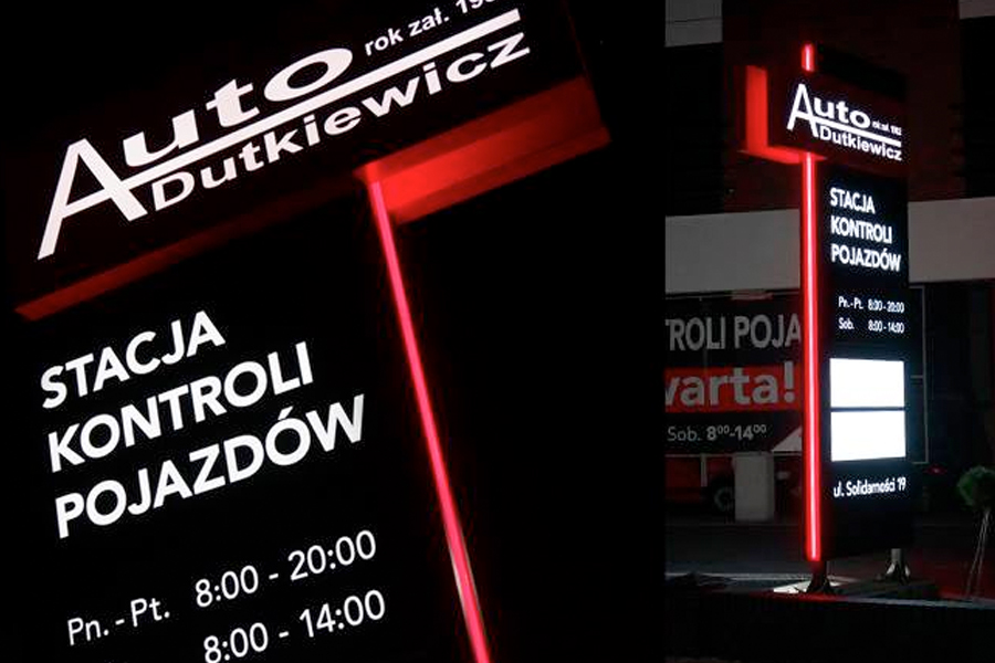 Pylon reklamowy – Auto-Dutkiewicz Jarocin