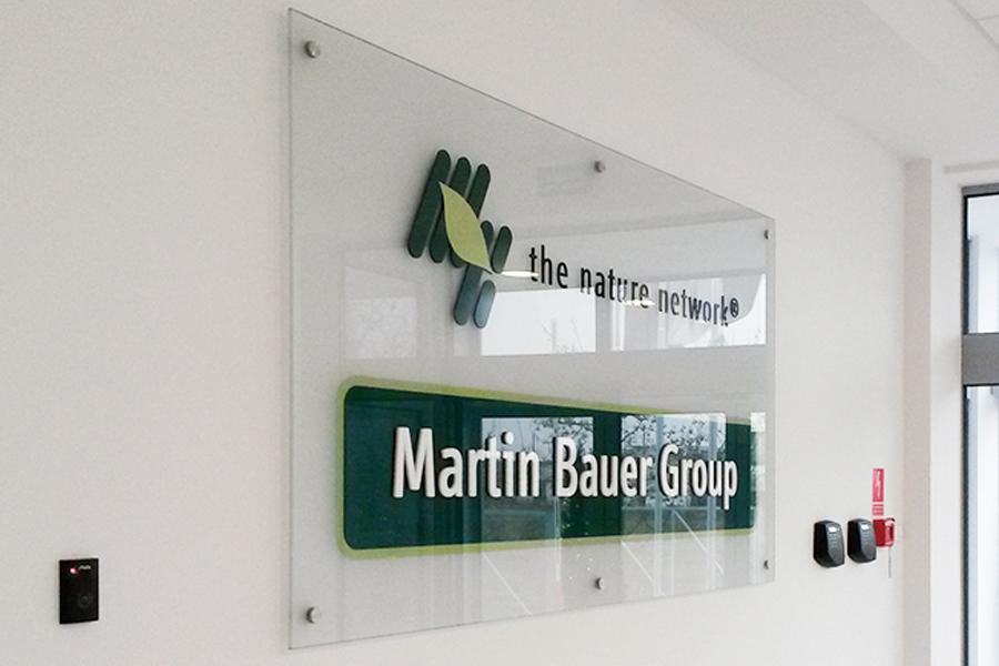 Reklama na szkle – Martin Bauer