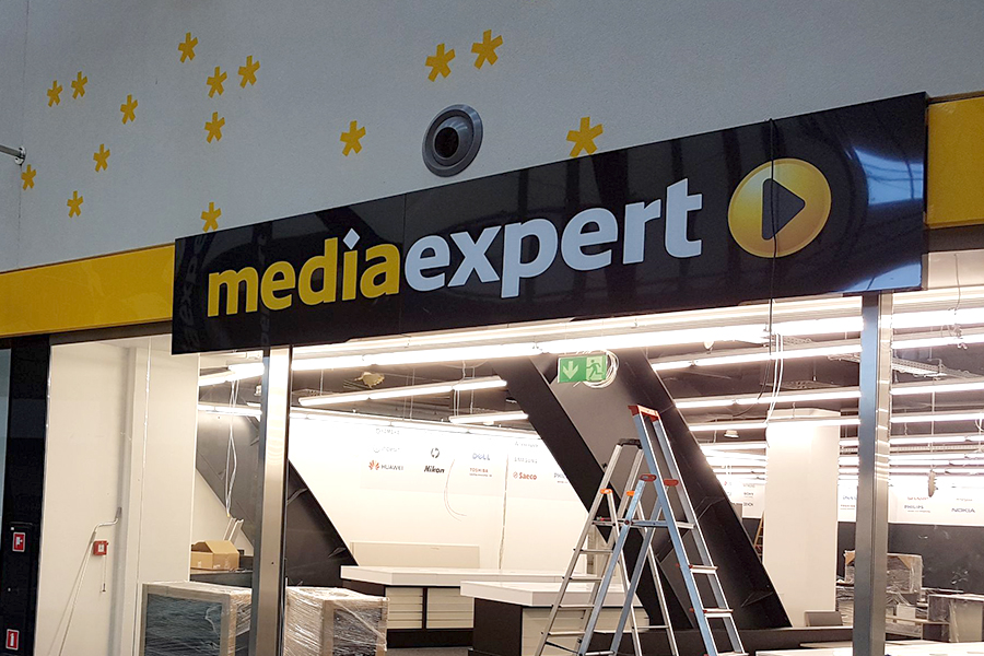 Portal wejściowy – Media Expert Super Sam Katowice