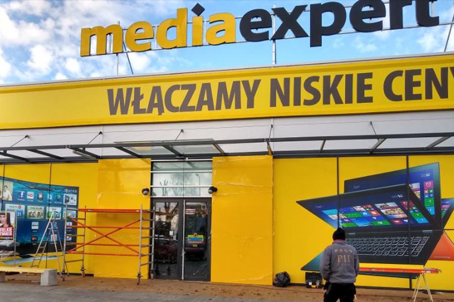 Oznakowanie zewnętrzne – Media Expert Kościan