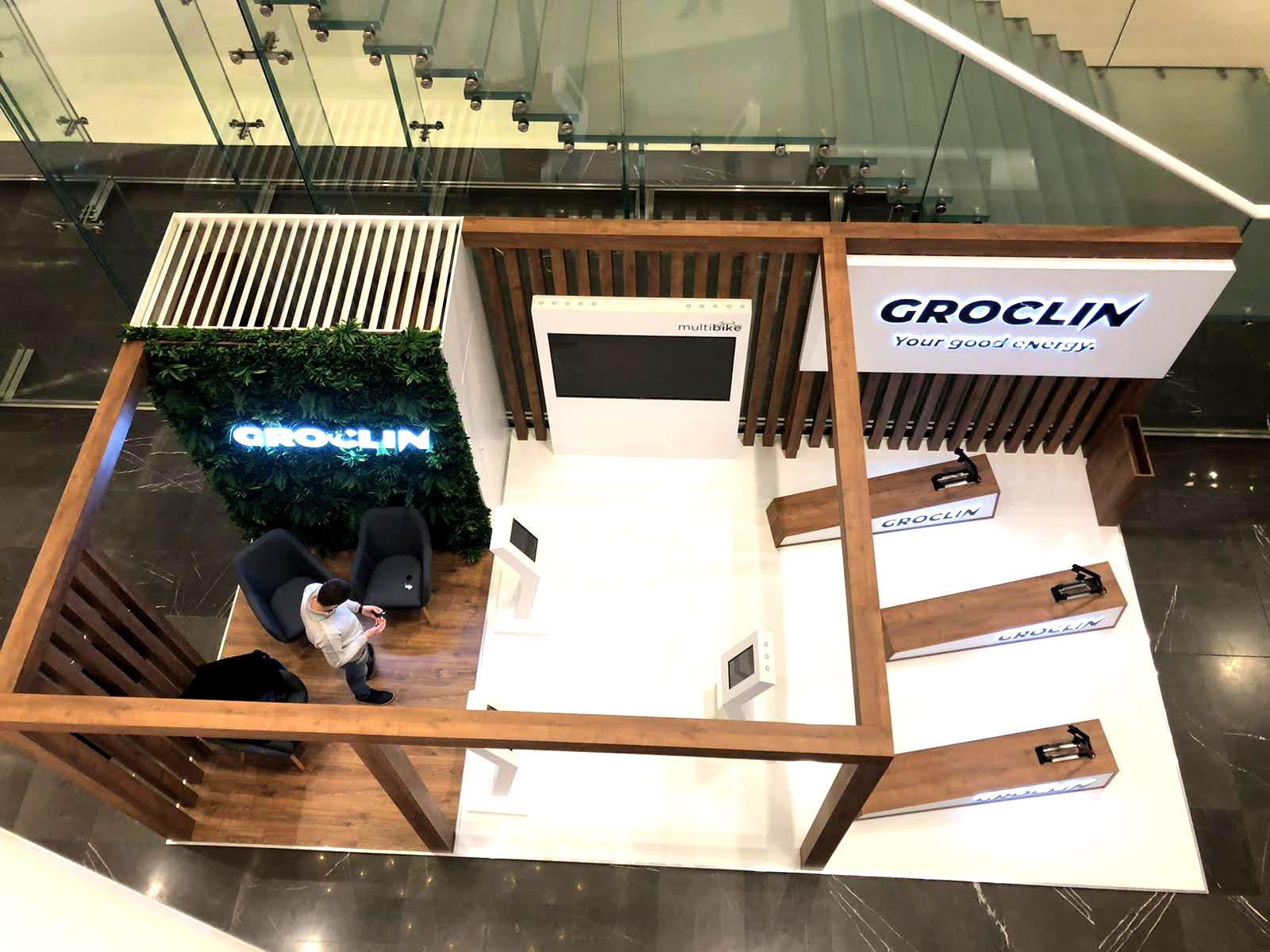 Wyspa handlowa dla marki Groclin w Galerii Posnania